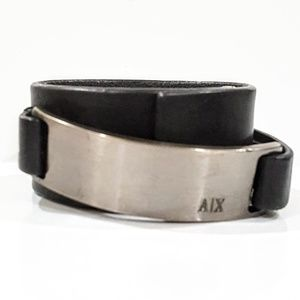 A|X Armani Exchange Leather Wrap Bracelet